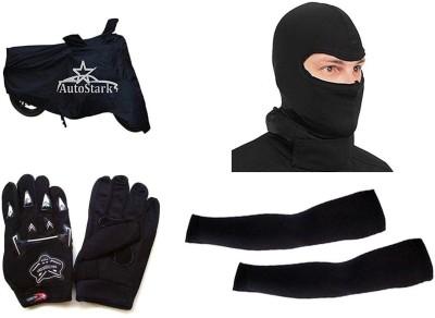 AutoStark Knighthood Gloves Alpinestar Face Mask Arm sleeve Bike Body Cover for Suzuki Sling Combo