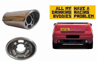 Speedwav 1 Bumper Sticker, 1 Car Exhaust Combo
