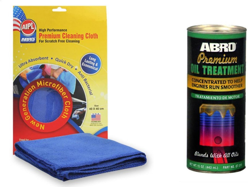 Abro 1 Premium Oil Treatment OT511 (443ml), 1 Microfiber Cloth Combo