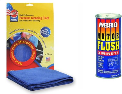 Abro 1 Motor Flush MF390 50 ml, 1 Microfiber Cloth Combo