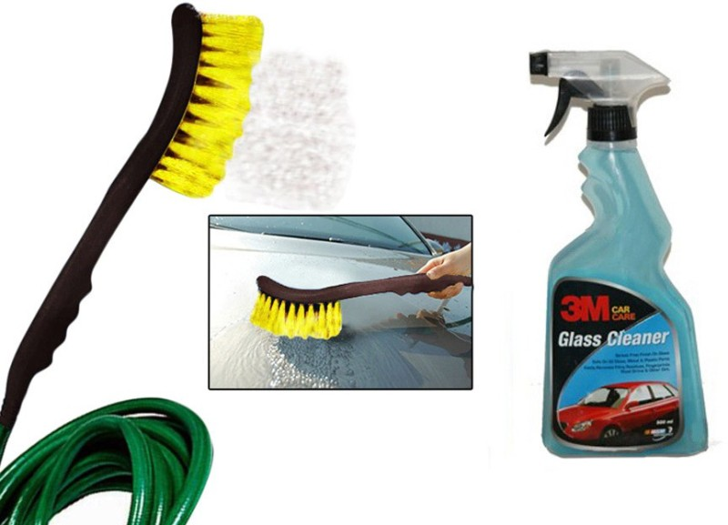 3M 1 Combo of 3M Car Glass Cleaner(500 ML), 1 Speedwav 2 in 1 Cleaning Brush Combo