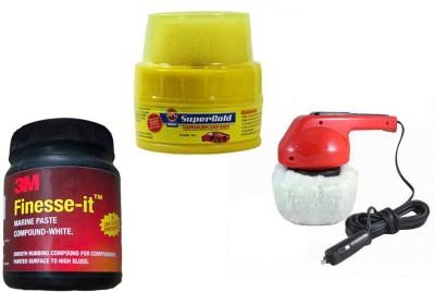 Coido 1 Car Polisher, 1 Formula 1 Spray Wax Polish, 1 3M Premium Rubbing Compound Combo