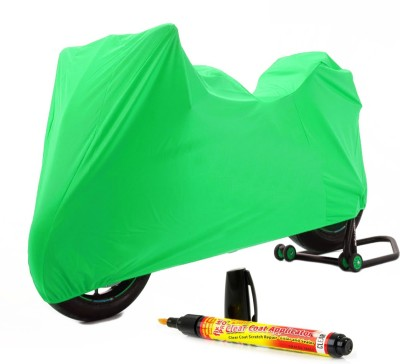 Time 1 Royal Enfield 350 Twin Spark Green Cover, 1 With Scratch Remover Combo