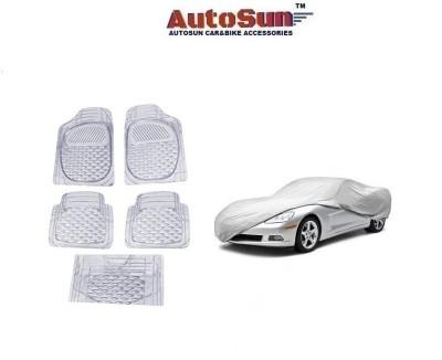 AutoSun 1 Car Cover 5 PC Foot Mats Combo