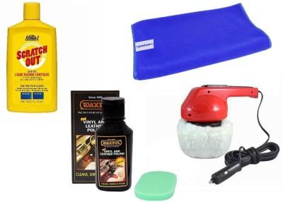 Waxpol 1 Polisher, 1 Waxpol Leather Polish, 1 Formula 1 Rubbing Compound, 1 Cleaning Cloth Combo
