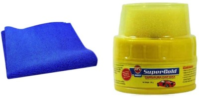 Speedwav 1 Car Cleaning Kit Microfiber Cloth, 1 Abro Wax Polish Combo