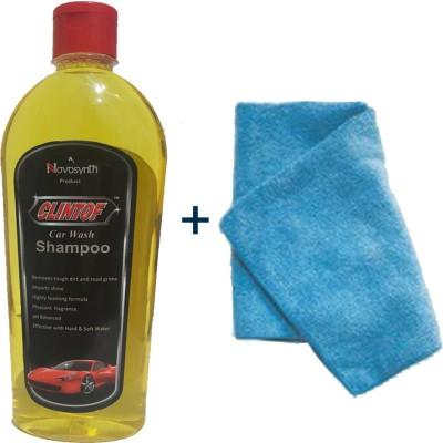 clintof Car Shampoo, Microfiber Cloth Combo