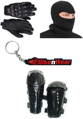 BikeNwear 1 Fox Raptor, 1 Probiker Gloves Black-XXL, 1 Balaclava Face Mask, 1 Keyring Combo