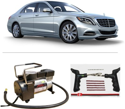 CreativeVia AutoCut-OFF Premium Metal Air Compressor With Tyre Punture Repair Kit For Mercedes S Class Combo
