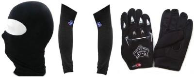 Speedwav 1 Combo Of Universal Full Face Mask, 1 ArmSleeve, 1 Riding Gloves Combo