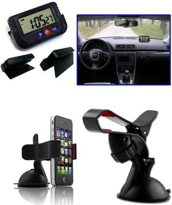 AutoSun Combo - Dash Board Clock, Car Moblie Stand Combo