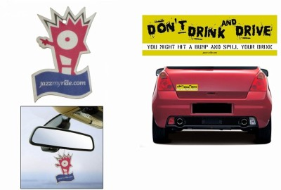 Speedwav 1 Combo Of Car Bumper Sticker-STOP DRINK N DRIVE, 1 Jazzy Hanging Perfume Combo