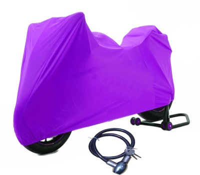 Time 1 TVS Max Purple Cover, 1 With Helmet Lock Combo