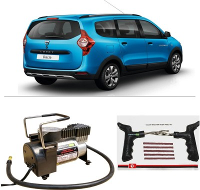 CreativeVia AutoCut-OFF Premium Metal Air Compressor With Tyre Punture Repair Kit For Renault Lodgy Combo