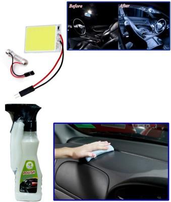 Auto Pearl 1Pcs SMD/LED Interior Roof Ceiling White Color Light, 1Pcs 200ml Car Polish Spray Combo