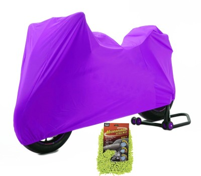 Time 1 Royal Enfield 350 Twin Spark Purple Cover, 1 With Microfiber Glove Combo