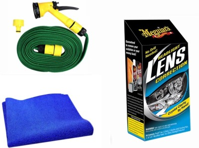 Meguiar's 1 Meguiars Headlight Correction, 1 Microfiber Cloth, 1 Spray Gun, 1 Spray Gun Combo