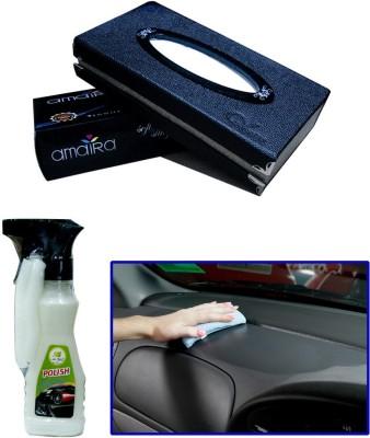 Auto Pearl 1Pcs Car Tissue Paper with Box Black, 1Pcs 200ml Car Polish Spray Combo