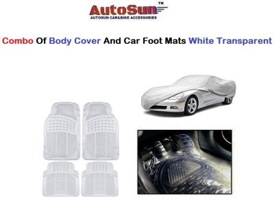 AutoSun 1 Car Cover 4 PC Foot Mats Combo