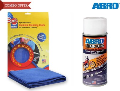 Abro 1 Chain Lube CL-100 (Multicolor) (113 gm), 1 Microfiber Cloth Combo
