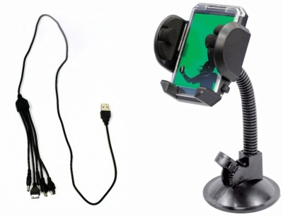 Accedre 1 Car Mobile Charger, 1 FlyMobileHolderWithFrame Combo