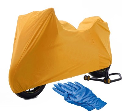 Time 1 Royal Enfield 350 Twin Spark Orange Cover, 1 With Rubber Gloves Combo