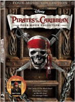 Pirates Of The Caribbean : Four Movie Collection(DVD English)