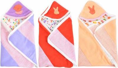Royal Shri Om Hooded Baby Wrapper Baby Wrapper Stripped