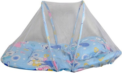 Gennext blue with mosquito net Foldable crib