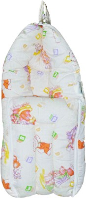 Babysid Collections Baby Hooded Travel Bed Set - Orange Bear - 24inch CONVERTIBLE ALL