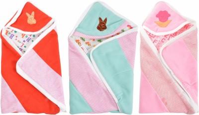 Royal Shri Om Hooded Baby Wrapper Stripped
