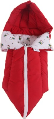 Jinglers 3 In 1 Baby Carry Bed Red Convertible BED(100 Percent Cotton Soft Fabric Cover : Polyster Fibre Filling, Red)