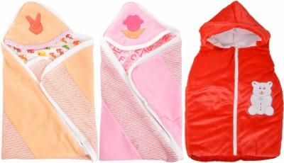 ROYAL SHRI OM REVERSABLE & NON REVERSABLE BABY WRAP (SET OF 3) BABY WRAPPER PRINTED