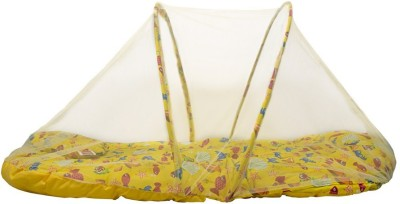 Morisons Baby Dreams Bedding set Crab printed with Mosquito Net Convertible Mattress(Cotton, Yellow)
