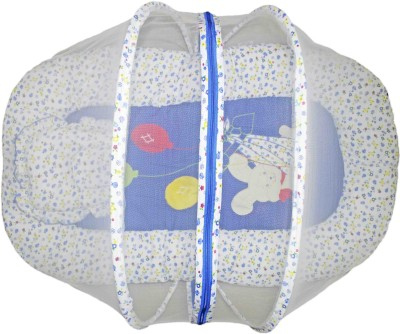 Babysid Collections Baby Bed / Matress Set with Net (Blue Bunny)- Made in Thailand- L-90cm ,W- 52cm ,H- 40cm, 8cm thick Standard All