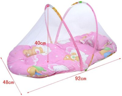 iCuddle Mosquito Net Cum Bed With Pillow Standard Crib