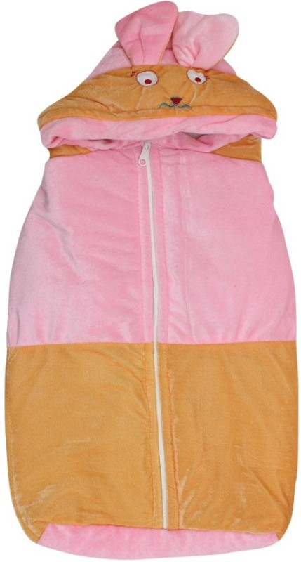 KidzCorner Baby Wrap Non-Convertible Bunk(High Density Fibre, Pink-Peach)
