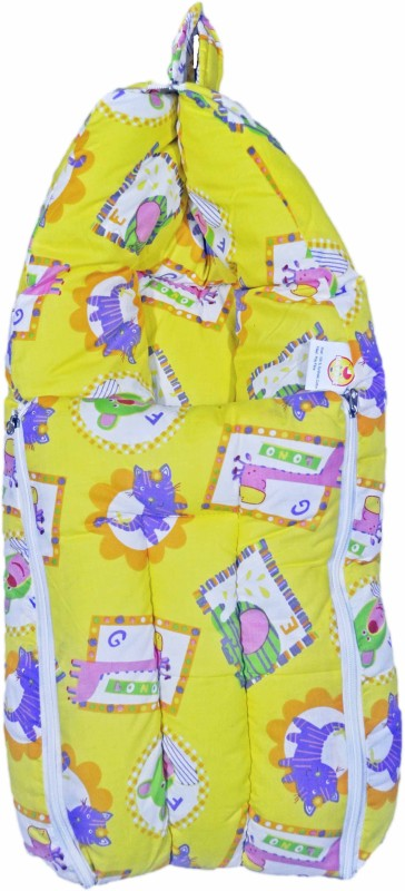 Babysid Collections Baby Hooded Travel Bed Set -Yellow Anime - 25inch Convertible All(Fibre Cotton, Yellow)
