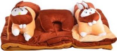 VEENA FABS RABBIT DESIGN BABY BED STANDARD CRIB(VELVET, Brown)