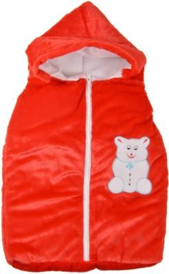 Royal Shri Om Hooded Baby Baby Wrapper Plain