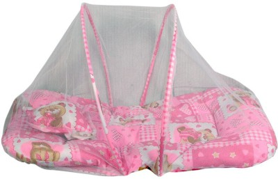 Gennext pink with mosquito net foldable crib