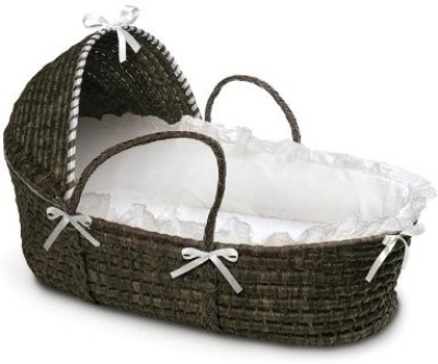 Badger Basket Moses Basket with Hood and Bedding Standard Bunk