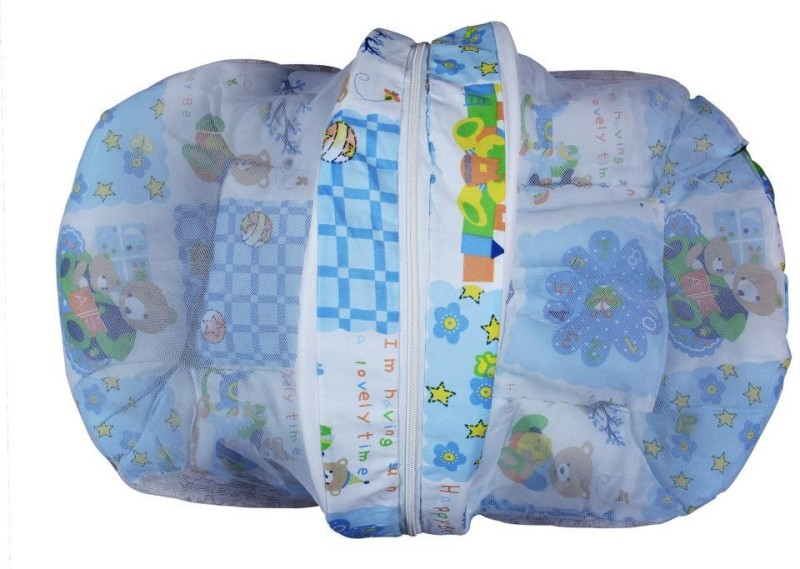 Cosy Baby Bed Set Baby mat with pillows and mosquito net Bunk(Cotton, Multicolor)