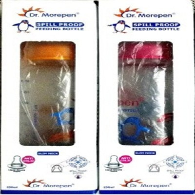 DR MOREPEN PC-01 FEEDING BOTTEL 250 ML SET OF 2 PCS - 250 ml