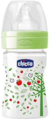 Chicco Well Being Feeding Bottle - 150 ml(Green)