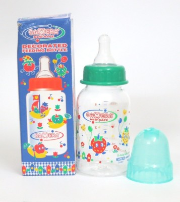 Camera Baby Corporation Decorated Feeding Bottle - 140 ml(Transparent)