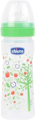 Chicco Wellbeing Medium Flow Feeding Bottle (Green) - 250 ml