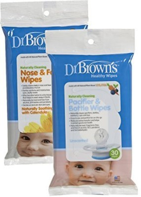 Dr Brown's S Nose And Face Wipes Pacifier And Bottle Wipes - 354 ml
