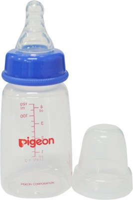 Pigeon Peristaltic Nursing Bottle 120ml with Small Size Nipple - Blue - 120 ml(Blue)
