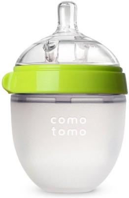 Comotomo Natural Feel Baby Bottle Single Pack Green 5 Ounces - 150 ml(Green)